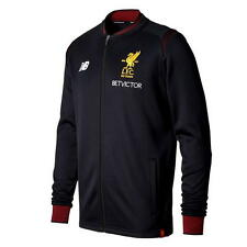 17 / 18 - NEW BALANCE LIVERPOOL BLACK WALK OUT JACKET = ADULTS SIZE*