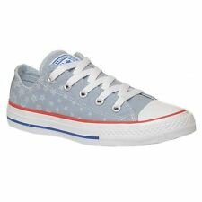 Converse Chuck Taylor All Star Ox Grey Kid Low Top Trainers Canvas