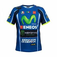 Official VR46 Motorcycle Motorbike Valentino Rossi Yamaha MotoGP T-Shirt - Blue