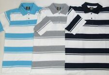 GRAND HOMMES manche courte à rayures rayé Chemise Polo King taille Poche T-shirt