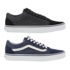 Vans Old Skool Mens Suede and Suiting Black Blue Trainers Size 7-12