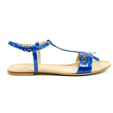 Versace 19.69 B1387ECO VERNICE BLUE Sandali donna Blu IT