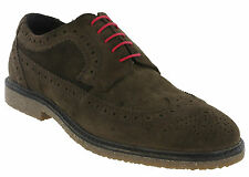 Red Tape Brogue Suede Brown Shoes Lace Up Cushioned Orrin shoes Mens UK 7 - 11