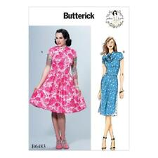 BUTTERICK SEWING PATTERN BY GERTIE MISSES' DRESS SKIRT OPTIONS SIZE 6 - 22 B6483