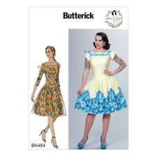BUTTERICK SEWING PATTERN BY GERTIE MISSES' DROPPED WAIST DRESS SIZE 6 - 22 B6484