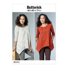 BUTTERICK SEWING PATTERN MISSES' KATHERINE TILTON TUNIC TOP XSM - XXL B6492