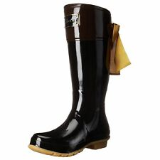 Joules Evedon Black Womens Rubber Tall Knee-high Wellies Wellingtons Rain Boots