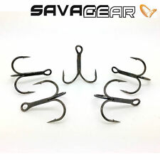 SAVAGE GEAR PIKE Y-TREBLE FISHING HOOKS BLACK NICKEL SIZE 4 6 8 AND 10