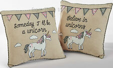 Patchwork Unicorn Cushion Pillow Girl Pink Vintage Floral Chic Shabby Bedroom