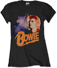 DAVID BOWIE Retro Bowie Pinups WOMENS GIRLIE T-SHIRT OFFICIAL MERCHANDISE