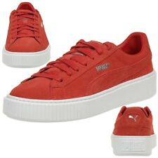 Puma Suede Platform Ladies Sneaker Shoes Leather red 362223 03