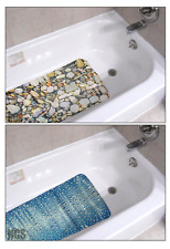 Bathroom Non Slip PVC Printed Bath Shower Mat Rubber Suction Safety Cups