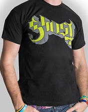 GHOST Classic Green Grey Keyline Band Logo T-SHIRT OFFICIAL MERCHANDISE