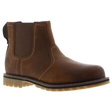 Timberland Larchmont Chelsea Brown Mens Leather Twin Elastic Gussets Ankle Boots