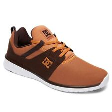 DC Shoes Heathrow Wheat Chocolate Mens Low Top Mesh Trainers Sneakers