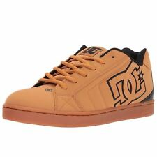 DC Shoes Net Wheat Black Chocolate Mens Nubuck Low Top Trainers Sneakers