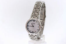 Ladies Citizen EM0120-58A Eco-Drive Bella Stainless Diamond White Dial Watch