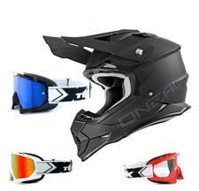 Oneal 2series RL CASCO CROSS FLAT NEGRO CON two-x Carrera Gafas Mx Motocross
