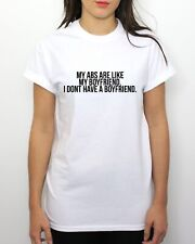My Abs Are Like My Boyfriend T Shirt Funny Food Hipster Fitness Indie Fitspo