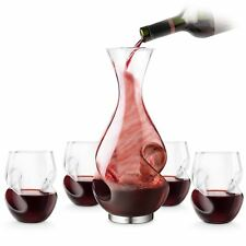 L'Grand Conundrum Wine Decanter, Red Wine Glasses Gift Set Unique Designer Bar