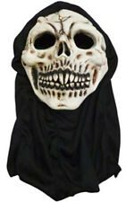 Halloween Latex Skull Mask W/Hood Adults Party Horror Scary Mask