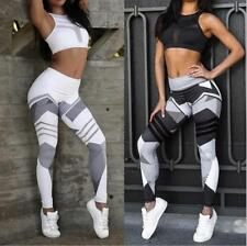 New Waist Yoga Fitness Leggings Leotards Athletic Running Stretch Sports Pants