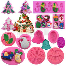 Christmas Silicone Cake Fondant Mold Sugarcraft Decorating Chocolate Mould Tools