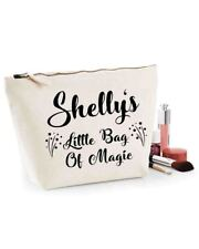 Personalised / Add your own name Canvas Make Up / Wash Bag Little Bag of Magic