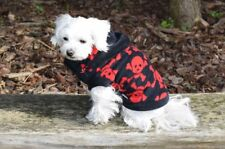 Pull pour chien, Manteau pour chien, Manteau pour chien Skully noir-rouge