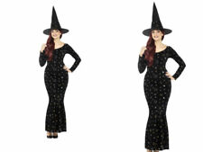Deluxe Black Magic Ouija Witch Costume Ladies Halloween Witches Fancy dress