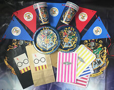 HARRY POTTER/HOGWARTS Children's Party Set/Kit/Pack -Tableware/Party Bags/Plates