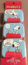SNOOPY & WOODSTOCK ATOP DOGHOUSE ROOF MINI TINS