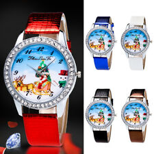 Christmas Women Watch Leather Stainless Steel Quartz Wrist Watch Xmas Gift