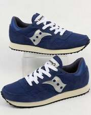 Saucony DXN Vintage Trainers in Navy & Silver - classic retro runner