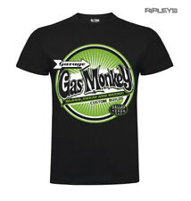 Official GMG T Shirt Gas Monkey Garage CIRCLE Custom Green Logo All Sizes