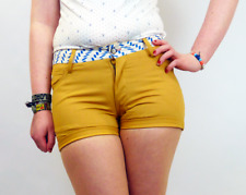 SALE! NEW WOMENS 'HAMMOCK' SUPREMEBEING RETRO 70S SHORTS TOBACCO K38