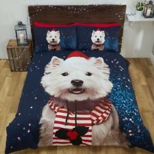 Noël Chien Westie Housse de couette ensembles LITERIE - Simple, double & King