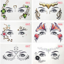 Fashion Eyes Temporary Tattoo Gold Face Make-Up Stickers Art Party Night Club