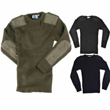 Crew Neck Combat Jumper Army  Security Pullover Military Police Black Navy S-3XL