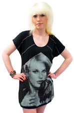 SALE! NEW 'NOTE TRASH' SUPREMEBEING RETROT-SHIRT DRESS IN BLACK K33