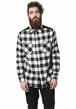 Cord Patched Checked Flanell Shirt Urban Classics Streetwear Camicia Uomo