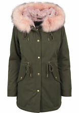 Urban Classics Ladies Peached Teddy Lined Parka Streetwear Giacca Invernale