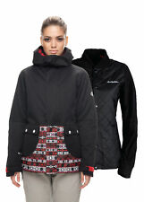 686 Womens Snowboard Jacket - Smarty Aries - Nordic Print Colorblock - 2018