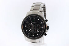 Men's Citizen AN8081-57E Quartz Stainless Steel Chronograph Black Dial Watch