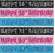 Sfarzo Striscione laminato - 2.7m MURO HAPPY BIRTHDAY 1° -100°