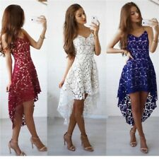 Women Sleeveless Bridesmaid Wedding Evening Party Cocktail Short Mini Lace Dress