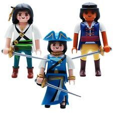 Playmobil Piratas seeraeuberin Corsario Piratenkönigin PIRATA MUJER