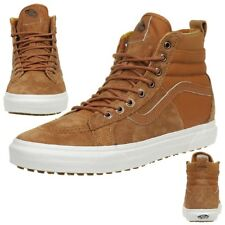 7aa1c878fffa03 Vans Classic Sk8-hi 46 MTE Dx Winter Trainers Shoes Leather Scotchgard Brown