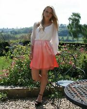 FOREVER NEW Thai Silk Coral Pink to Cream Dip Dye Dress/Top   SALE   1/2 Price