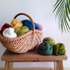 64 colours* 100% Pure Merino Wool Tops for Needle and Wet Felting 10 - 200 g